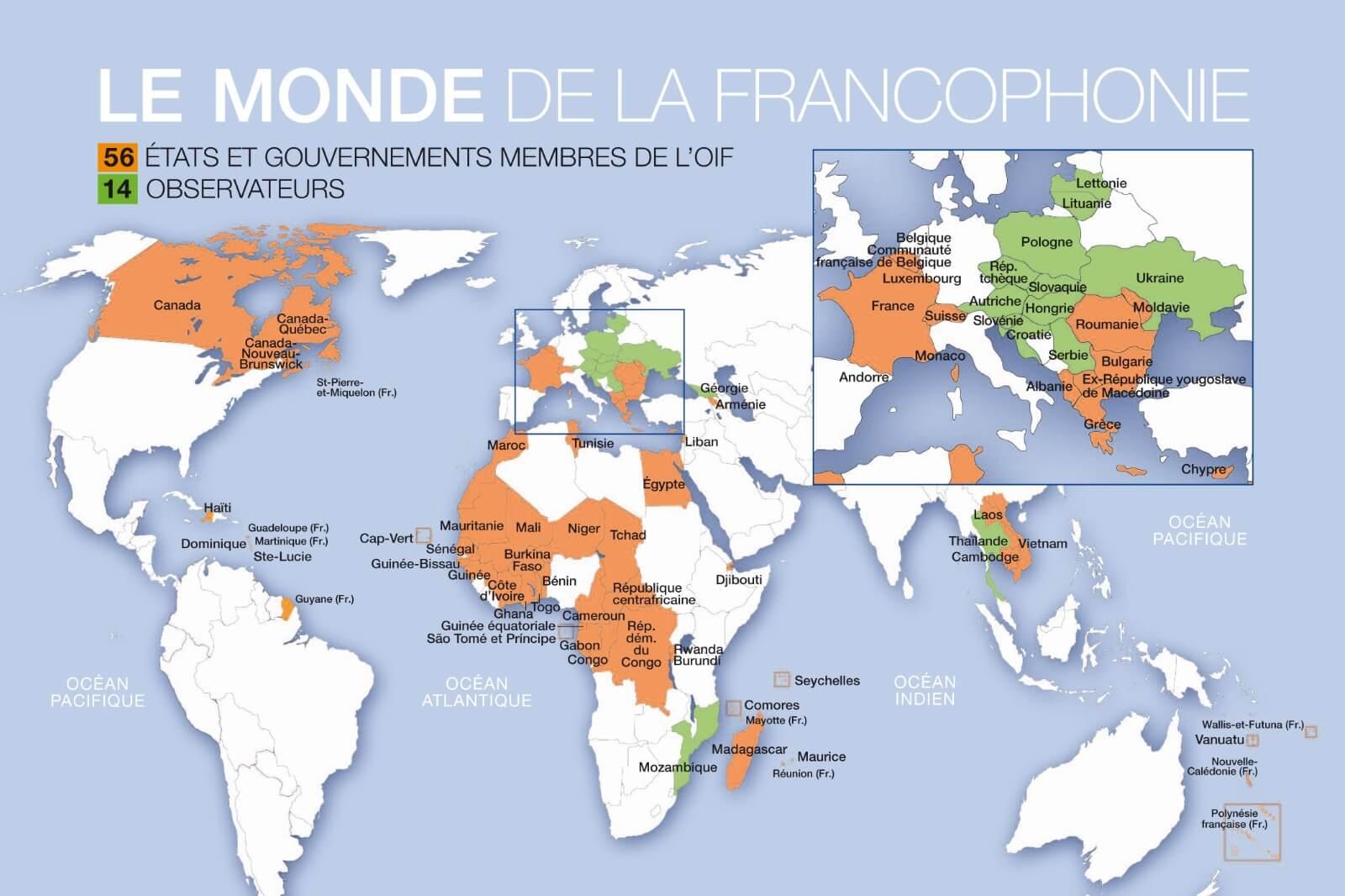 Χώρες που μιλιούνται τα Γαλλικά